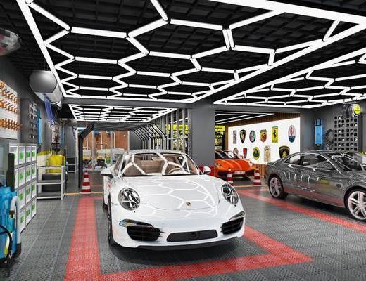 地格栅, 汽车, 龙门灯, 墙面挂钩, 墙面吸尘器, 现代
