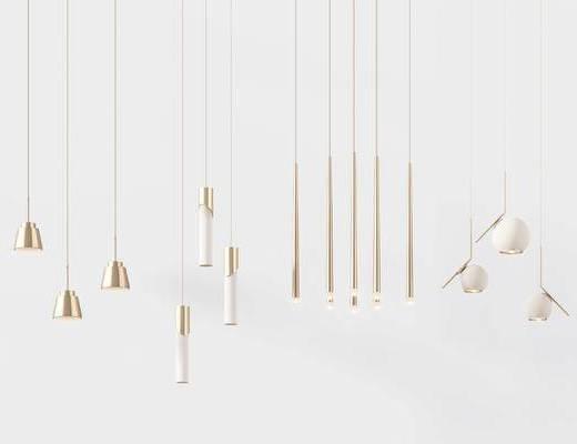 现代, 后现代, 吊灯, 灯, 灯具, 吊灯组合