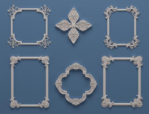 欧式石膏雕花, 构件, 角线
