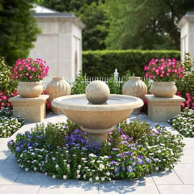 花园, 景观小品, 植物, 花草
