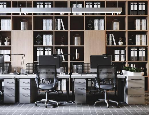 辦公桌, 桌椅組合, 書柜, 書架