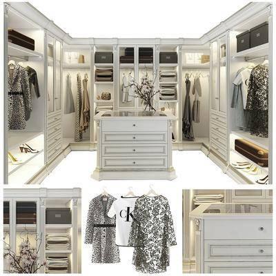 衣帽间, 衣柜, 衣架, 服饰, 柜架组合