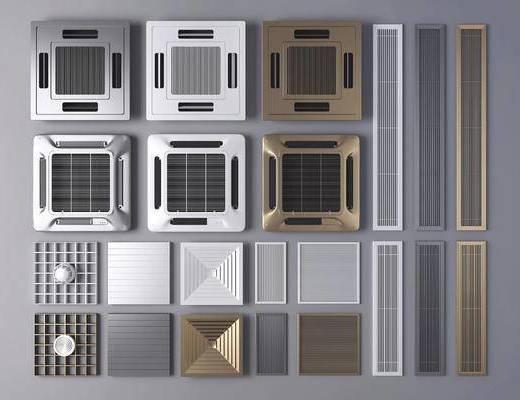 现代, 中央空调, 通风口, 出风口, 工具, 家装, 工装