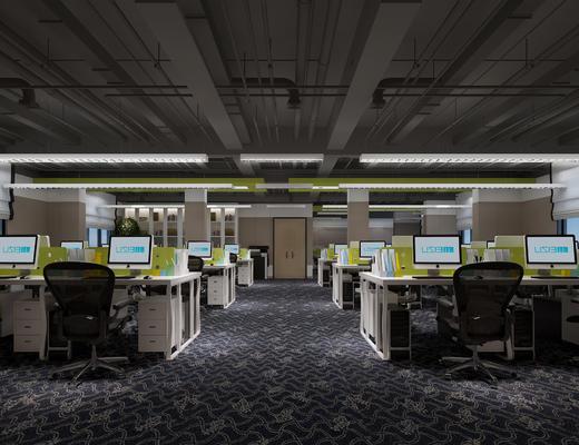 现代, 办公室, 办公桌, 办公椅