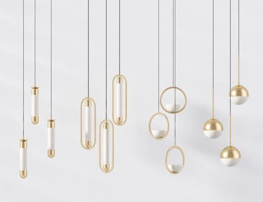 現代吊燈, 吊燈, 金屬吊燈