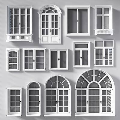 窗, 欧式窗, 窗构件, 构件, 窗口, 窗户