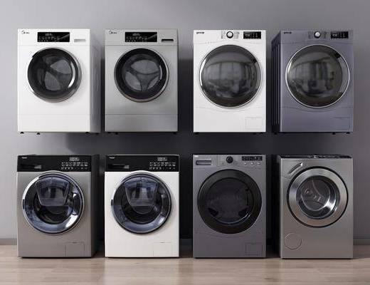 现代, 滚筒洗衣机, 洗衣机, 单体