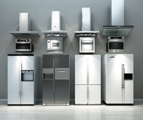 厨房电器, 冰箱, 烤箱, 微波炉, 抽油烟机, 现代厨房电器, 现代