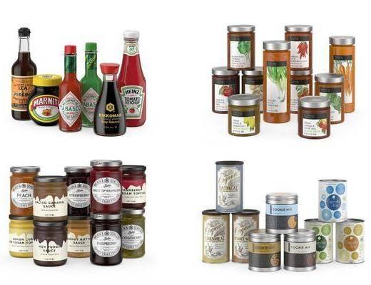 厨房用品, 食物调料, 现代