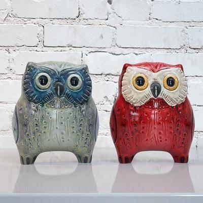 陶瓷摆件, 猫头, 摆件, 现代