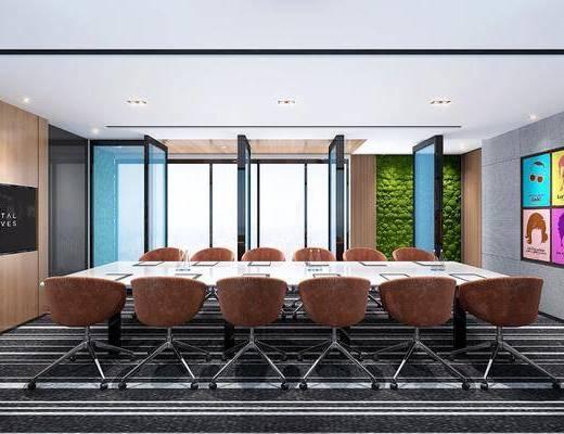 會議室, 桌椅組合, 人物畫, 掛畫組合, 現代