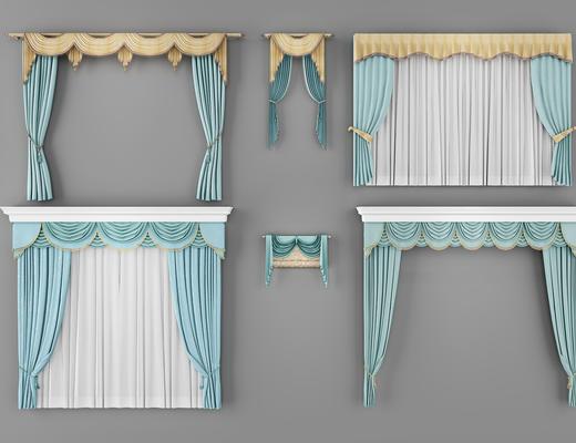 欧式窗帘, 窗帘, 欧式, 帘