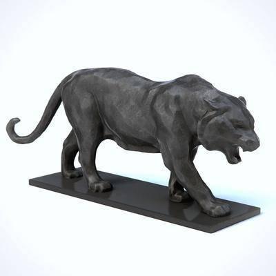 雕塑, 老虎, 动物, 现代