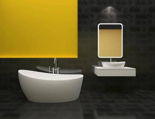 卫浴洁具, 卫浴组合, 洗手台, 现代