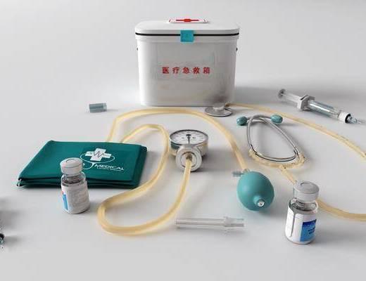 医药箱, 医疗器械, 听诊器