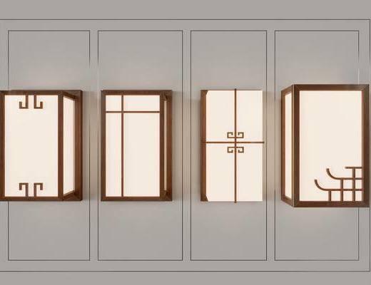 新中式壁灯, 新中式灯具