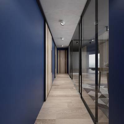 走廊, 过道, 办公, 现代