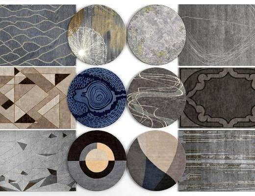地毯, 圆形地毯, 方形地毯