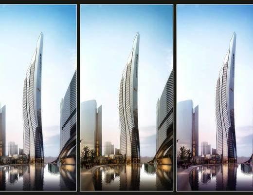 建筑, 办公楼, 异形建筑, 现代, 外观