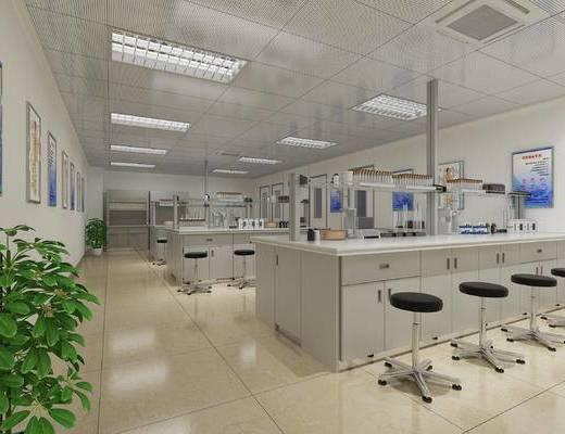 学校, 实验室, 现代
