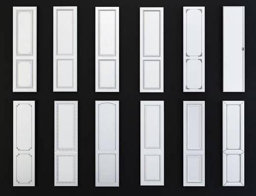 欧式护墙板构件, 门板, 石膏件