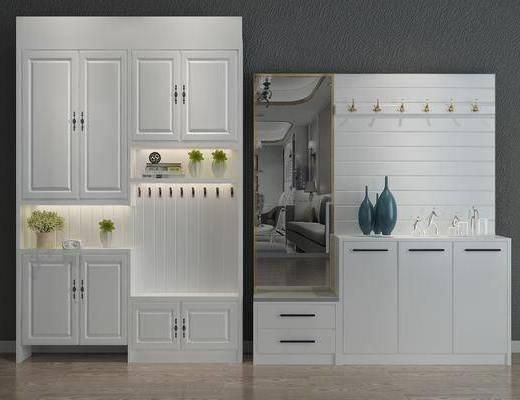 鞋柜, 玄关柜, 玄关鞋柜, 盆景, 植物, 边柜, 装饰柜