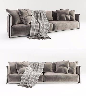 双人沙发, 布艺沙发, 多人沙发, 现代