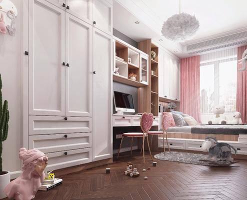 北歐女兒房, 女兒房, 兒童房, 單人床