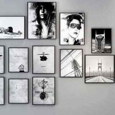装饰画, 挂画, 照片墙, 现代