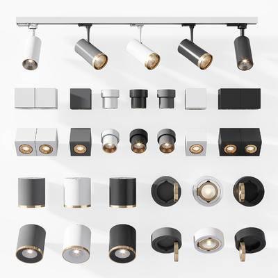 射灯, 轨道灯, LED射灯, 双头射灯, 二头射, LED筒灯, 装饰灯