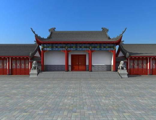 古建, 门头, 门口, 中式
