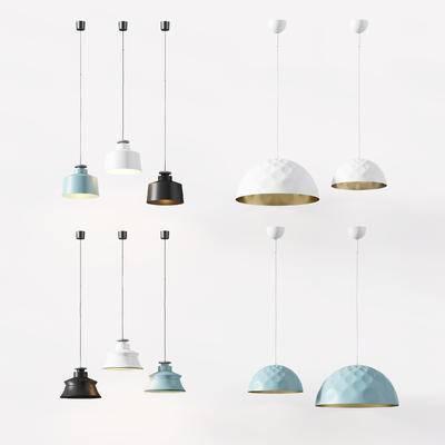现代, 北欧, 吊灯, 灯, 灯具, 吊灯组合