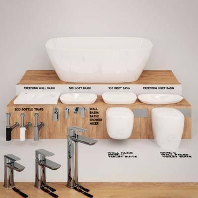浴缸台盆, 洗手盆, 水龙头, 现代