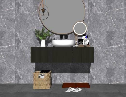 洗手盆, 摆件组合, 壁镜