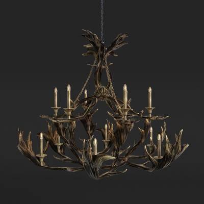 吊灯, 金属吊灯, 现代吊灯, 艺术吊灯, 树枝装饰灯, 装饰灯, 现代