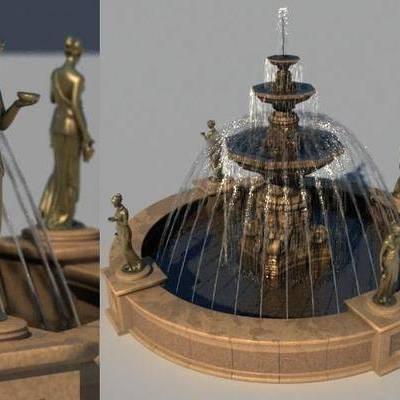 喷泉, 现代