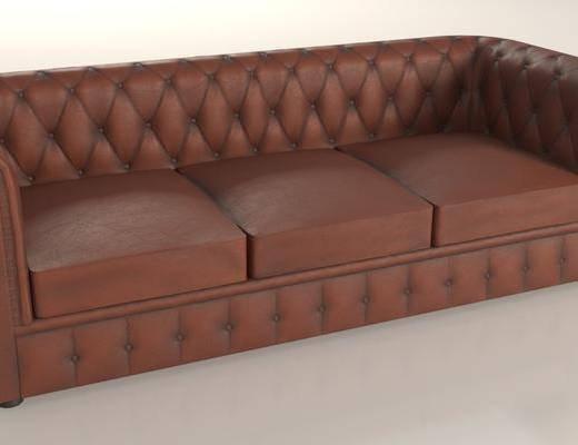 皮質沙發, 多人沙發, 現代