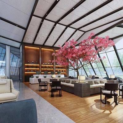 多人沙发, 单人沙发, 茶几, 单人椅, 休闲椅, 花卉, 吊灯, 餐桌, 茶桌, 餐椅, 墙饰, 新中式, 装饰柜, 陈设品, 装饰品