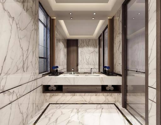 卫生间, 洗手台, 现代