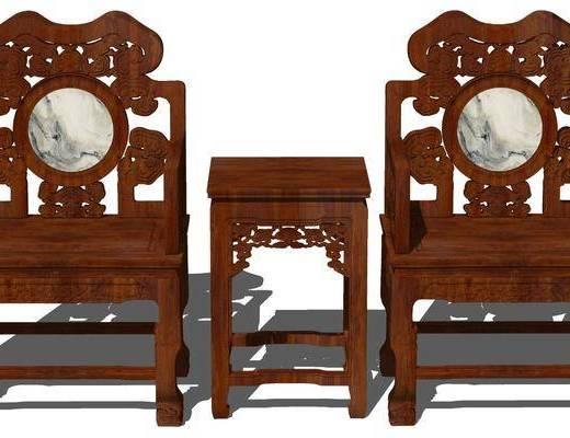 中式, 椅子, �M合