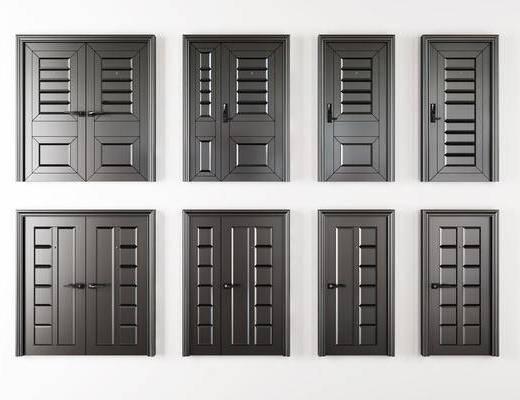 烤漆房门, 入户门, 复合门, 单开门, 双开门, 子母门, 平开门组合, 现代