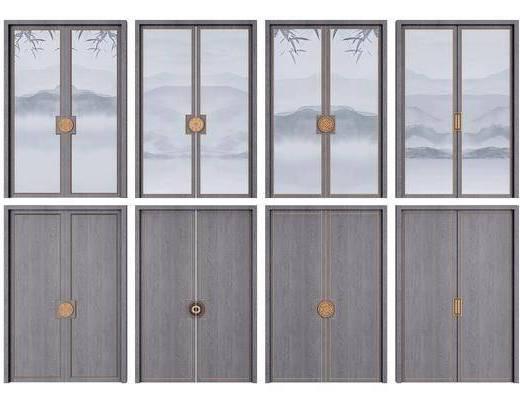推拉门, 双开门, 门