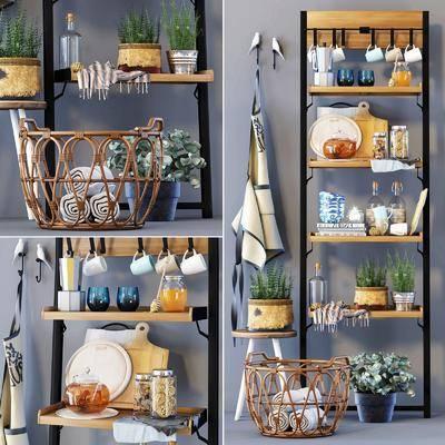 厨具, 北欧厨具小件, 植物, 盆栽, 收纳篮, 摆件, 北欧
