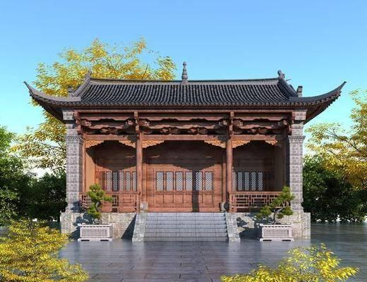 中式, 寺庙