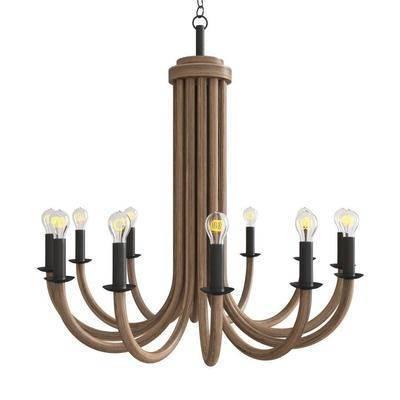 吊灯, 现代吊灯, 实木吊灯, 艺术吊灯, 灯泡, 现代实木吊灯, 现代