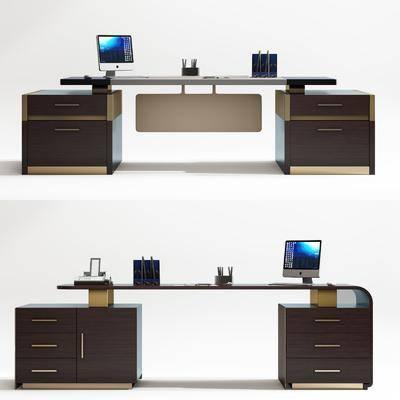 辦公桌組合, 電腦桌組合, 現代