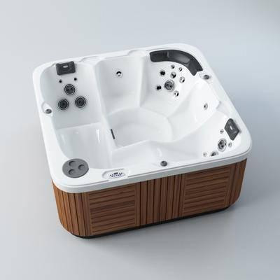 现代浴室浴缸, 现代, 浴缸, 现代浴缸