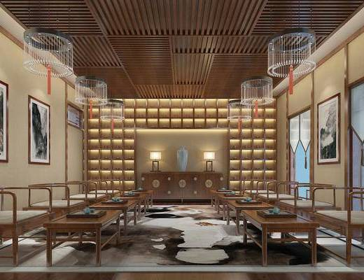 新中式, 茶馆, 茶室