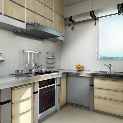 厨房, 橱柜, 现代, 摆件, 双十一