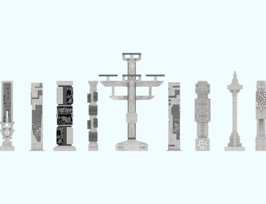 中式, 景觀柱, 擺件, 單體